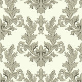 Vintage Baroque damask floral pattern acanthus Imperial style. Vector decor background. Luxury Classic ornament. Royal Royalty Free Stock Photos