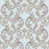 Vintage Baroque damask floral pattern acanthus Imperial style. Vector decor background. Luxury Classic ornament. Royal Stock Photos