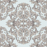 Vintage Baroque damask floral pattern acanthus Imperial style. Vector decor background. Luxury Classic ornament. Royal Stock Photography