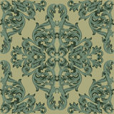 Vintage Baroque damask floral pattern acanthus Imperial style. Vector decor background. Luxury Classic ornament. Royal Royalty Free Stock Photography