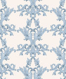 Vintage Baroque damask floral pattern acanthus Imperial style. Vector decor background. Luxury Classic ornament. Royal Stock Image
