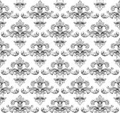 Vintage baroque damask seamless pattern vector royalty free illustration