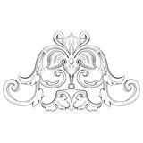 Vintage Baroque design pattern element engraving Stock Images