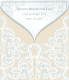 Vintage Baroque envelope Invitation card Imperial style. Vector decor background. Luxury Delicate Classic ornament Royalty Free Stock Photography
