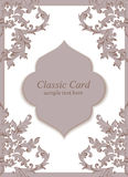 Vintage Baroque envelope Invitation card Imperial style. Vector decor background. Luxury Delicate Classic ornament Royalty Free Stock Image