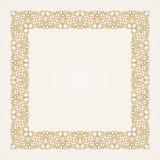 Vintage baroque floral frame. Vector gold Royalty Free Stock Image