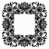 Vintage baroque flourish luxurious frame Stock Image