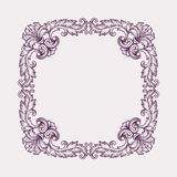 Vintage Baroque frame border scroll design vector Stock Photos