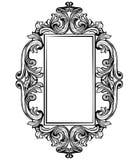Vintage baroque frame decor. Detailed ornament vector illustration graphic line art Royalty Free Stock Photos
