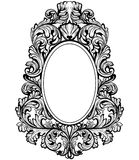 Vintage baroque frame decor. Detailed ornament vector illustration graphic line art Stock Image