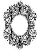 Vintage baroque frame decor. Detailed ornament vector illustration graphic line art Royalty Free Stock Photo