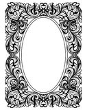 Vintage baroque frame decor. Detailed ornament vector illustration graphic line art Royalty Free Stock Photography