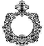 Vintage baroque frame decor. Detailed rich ornament vector illustration graphic line art Royalty Free Stock Photography