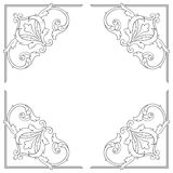 Vintage baroque frame engraving scroll ornament Royalty Free Stock Photography