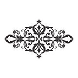 Vintage baroque frame engraving scroll ornament Royalty Free Stock Images