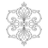 Vintage baroque frame engraving scroll ornament Stock Photography