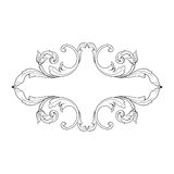 Vintage baroque frame engraving scroll ornament Royalty Free Stock Photos