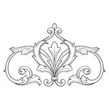 Vintage baroque frame engraving scroll ornament Royalty Free Stock Photo