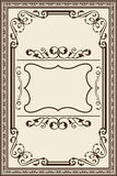 Vintage baroque frame Royalty Free Stock Images