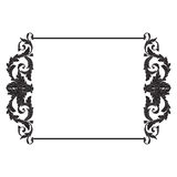 Vintage baroque frame scroll ornament Royalty Free Stock Photos