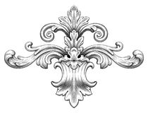 Vintage Baroque Frame Scroll Ornament Vector Stock Photography