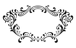 Vintage baroque frame scroll ornament vector Stock Images