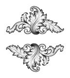 Vintage baroque frame scroll ornament vector Royalty Free Stock Photography