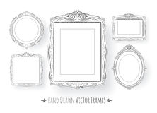 Vintage baroque frames set Stock Photography
