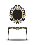 Vintage Baroque Furniture Table Royalty Free Stock Photos