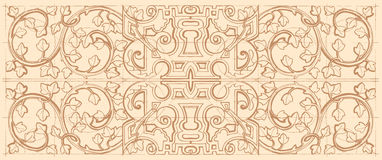 Free Vintage Baroque Geometry Floral Ornament. Stock Image - 66105301