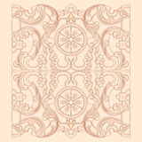 Vintage baroque geometry floral ornament. Royalty Free Stock Images