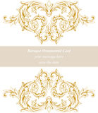 Vintage Baroque Invitation card Imperial style. Vector decor background. Luxury golden ornament. Royal Victorian floral Royalty Free Stock Image
