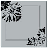 Vintage baroque ornament engraving Royalty Free Stock Image