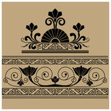 Vintage baroque ornament engraving Royalty Free Stock Photo