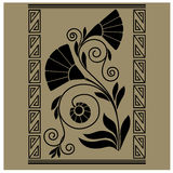 Vintage baroque  ornament engraving Royalty Free Stock Images
