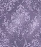 Vintage Baroque ornamented background Vector. Victorian Royal texture. Flower decorative design. Purple color decors. Vintage Baroque ornamented background royalty free illustration