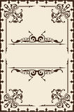 Vintage baroque page Royalty Free Stock Photography