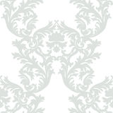 Vintage Baroque Rococo ornament pattern. Vector damask decor. Royal Victorian texture for wallpapers, textile, fabric Royalty Free Stock Image