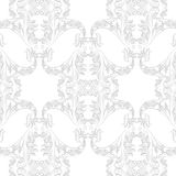 Vintage Baroque Rococo ornament pattern. Vector damask decor. Royal Victorian texture for wallpapers, textile, fabric Stock Photos