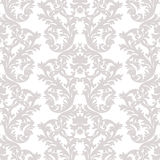 Vintage Baroque Rococo ornament pattern. Vector damask decor. Royal Victorian texture for wallpapers, textile, fabric Royalty Free Stock Photos