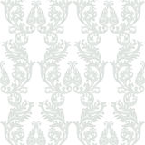 Vintage Baroque Rococo ornament pattern. Vector damask decor. Royal Victorian texture for wallpapers, textile, fabric Royalty Free Stock Photo