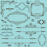 Vintage baroque set Royalty Free Stock Photos