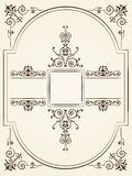 Vintage baroque style ornament design Royalty Free Stock Images