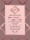 Vintage baroque style wedding invitation card template. Royalty Free Stock Image