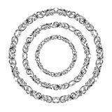 Vintage Baroque Victorian round circle frame border monogram floral ornament  scroll engraved pattern tattoo vector heraldic Stock Photos