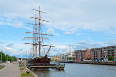 Vintage barque. In Turku, Finland stock images