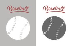 Vintage baseball ball stock image