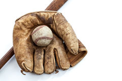 Vintage Baseball Equipment Stock Image