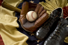Vintage Baseball Gear Stock Image