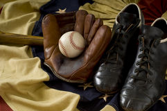 Vintage Baseball Gear Stock Photo